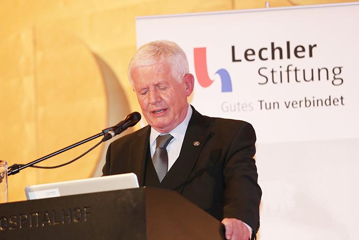 Stiftungsvorstand Dieter Hauswirth berichtet über seine Tätigkeit.
