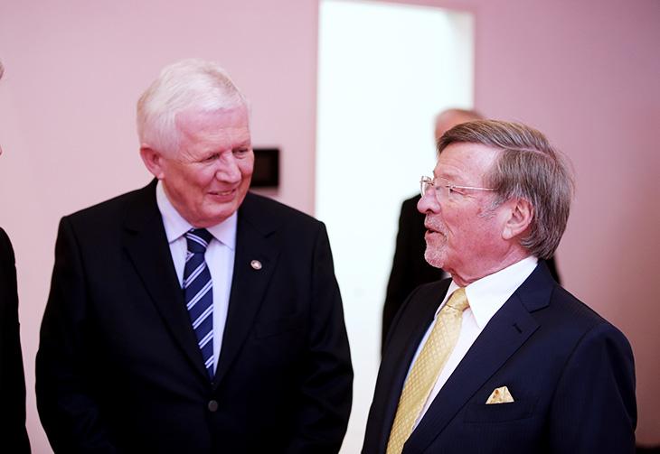 Herr Walter H. Lechler im Gespräch mit Stiftungsvorstand der Lechler Stiftung, Herr Dieter Hauswirth.