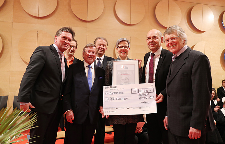 Übergabe des Paul Lechler Preises 2018 an: das Hospiz Esslingen der Evangelischen Gesamtkirchengemeinde