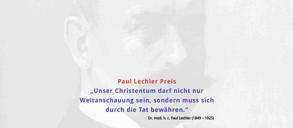 Lechler Stiftung – Paul Lechler Preis
